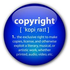 """Copyright"" definition button"